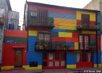 Colourful La Boca house in Buenos Aires