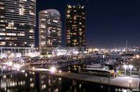 East Docklands marina at night, Melbourne, Victoria