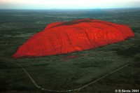 Uluru or The Ayers Rock is an famous landmark and an aboriginal sacred place