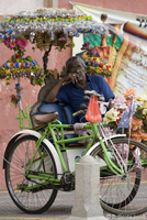 Trishaw driver resting in the ancient city of Malacca