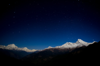 Annapurna Range At Night