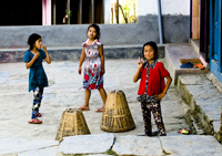 Little Girls in Bandipur
