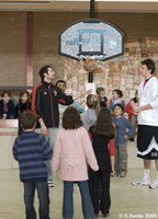 Melbourne Tigers players visiting Russian Sunday school