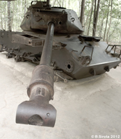 Remains of an American Tank in Cu Chi