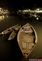 Rowing boats in Hoi An