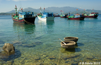 Fishing boats near the islands of Nha Trang